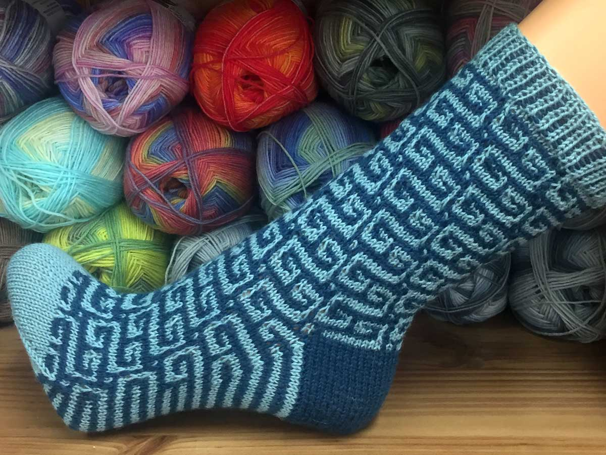 Regia Candy Color Socken Stricken Anfanger 11