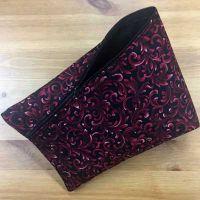 Tasche *SantaFiore* - schwarz mit dunkelroten Ornamenten