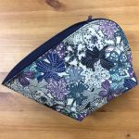Tasche *Obscura* - blaubunte Blumen