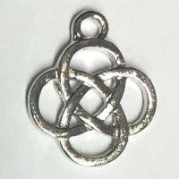 Anhänger Keltischer Knoten silberfarben