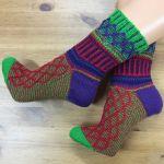 Set: Socken *MixUp #5* & 4 x Lang Yarns JAWOLL