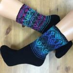 Set: Sock and Wristwarmer *Nyx* & Opal Sockyarn