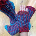 Set: Armstulpen und Socken *Quadrix* & 3 x Lang Yarns JAWOLL