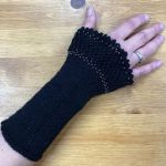 Wristwarmer *Gloriane* with beads