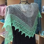 Set: Shawl *Sharon* & Coast - Sea Green & Melon