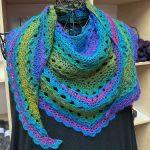 Set: Crochet Shawl *Primula* & Schoppel Wolle Zauberball